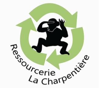 Logo de la Ressourcerie la Charpentière